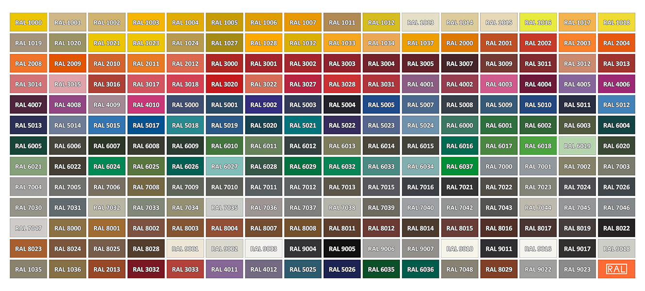 ral karta PATINAS IN ACCORDANCE WITH RAL COLOR CHART Fabbrica ral karta
