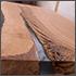 Epoxy resin in cracked walnut massif. Artistic processing of wood. furniture loft. modern furnishings. table-tops